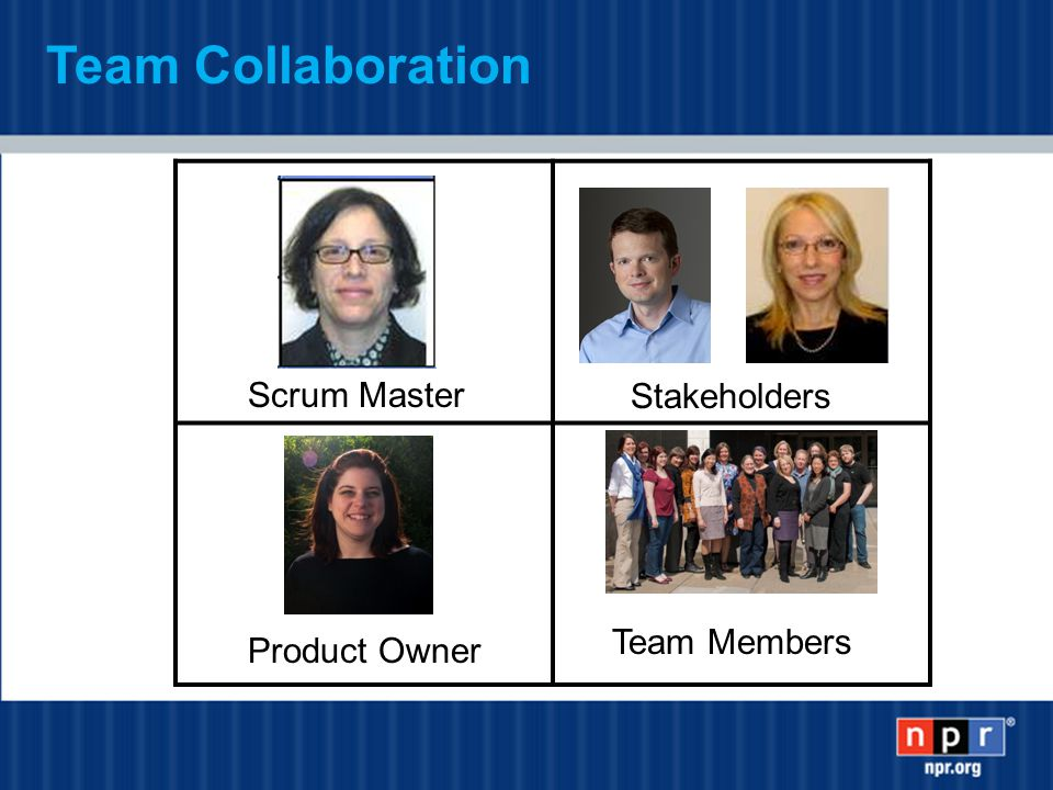 Team Collaboration Scrum Master Stakeholders Product Owner Team Members