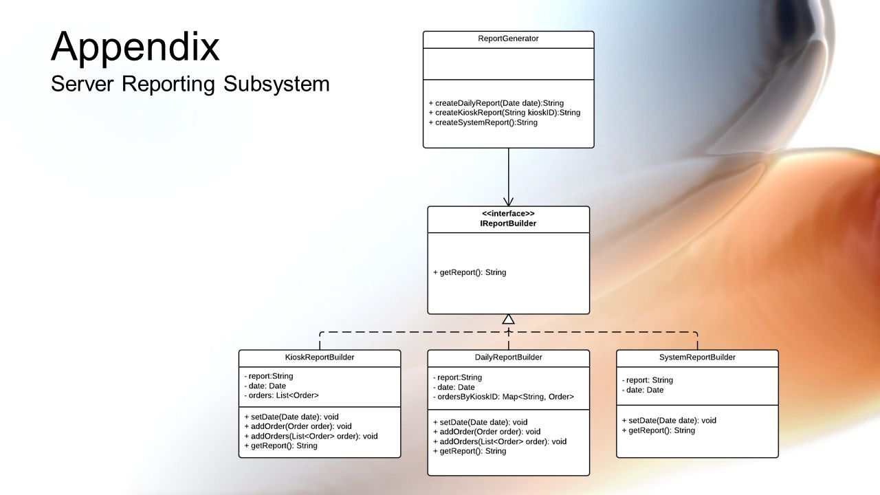 Appendix Server Reporting Subsystem
