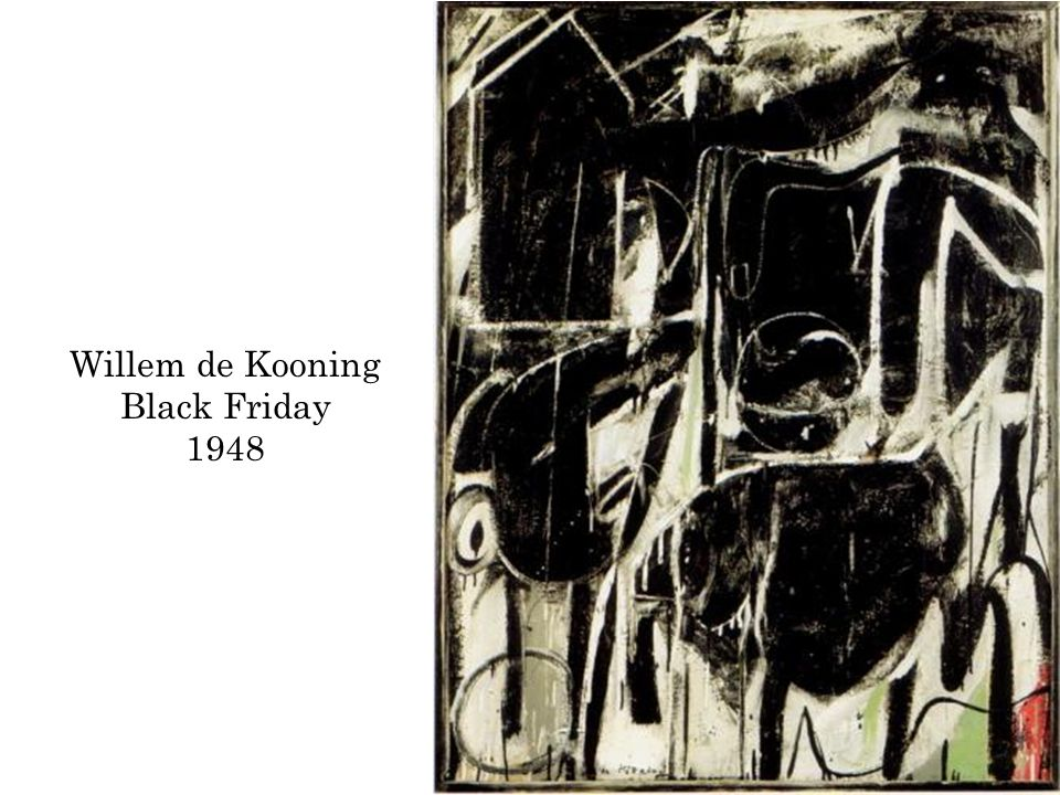 Willem de Kooning Black Friday 1948