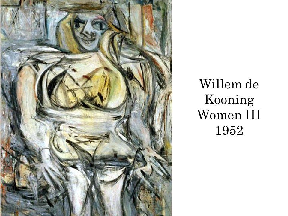 Willem de Kooning Women III 1952