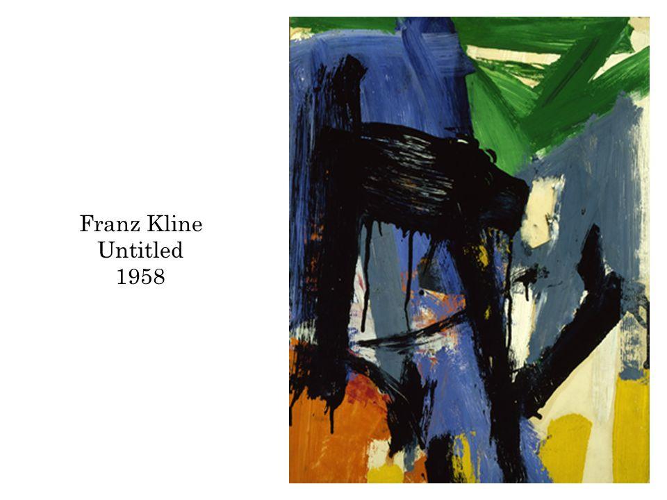 Franz Kline Untitled 1958