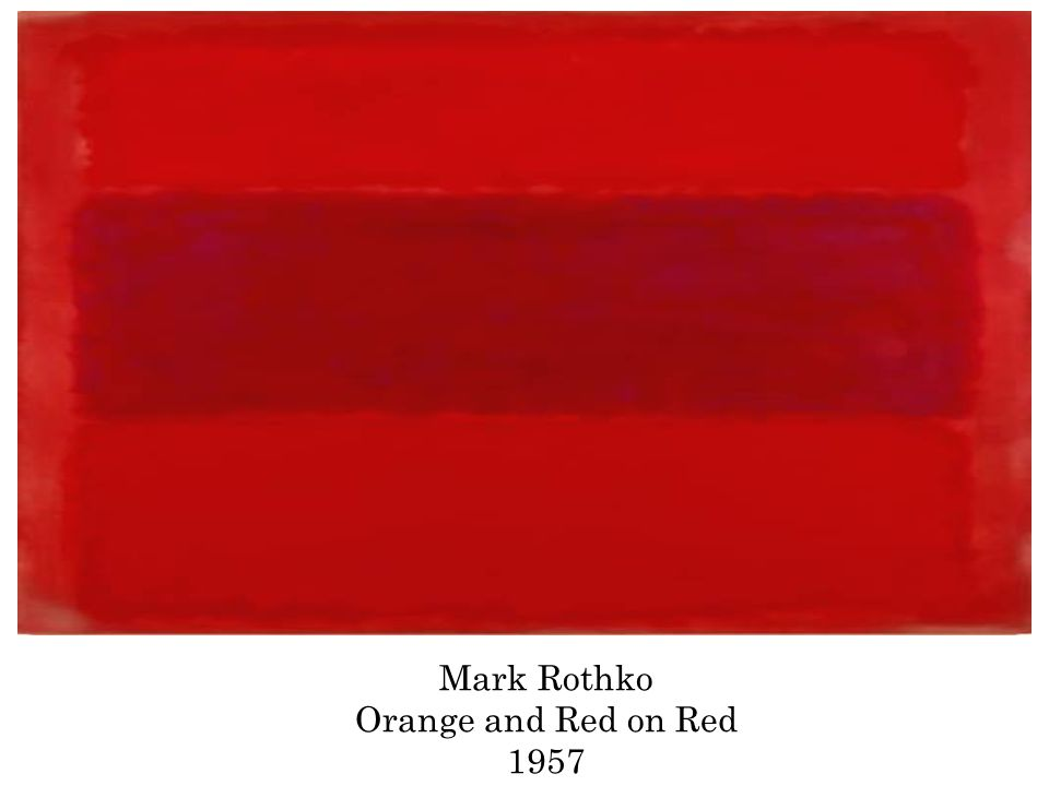 Mark Rothko Orange and Red on Red 1957