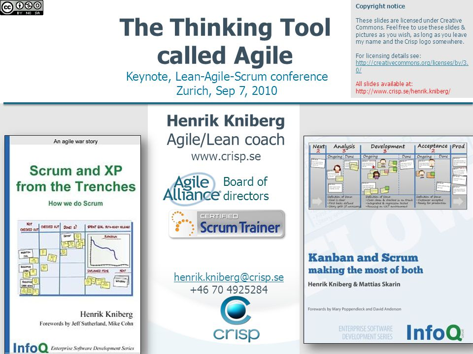 2 Purpose of this presentation To illustrate how Lean and Agile can fit together Henrik Kniberg 2
