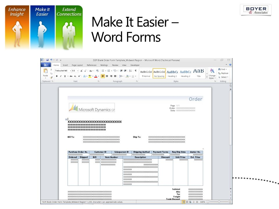 Make It Easier – Word Forms Make It Easier