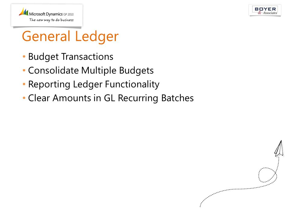 General Ledger Budget Transactions Consolidate Multiple Budgets Reporting Ledger Functionality Clear Amounts in GL Recurring Batches