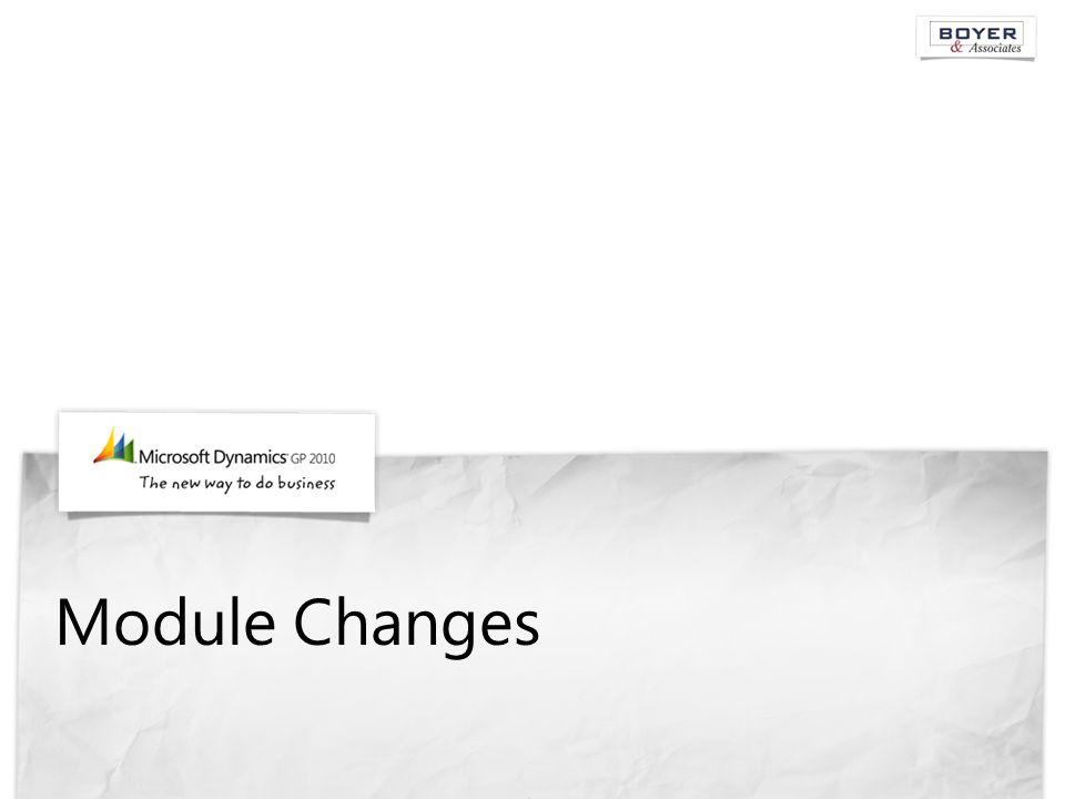 Module Changes