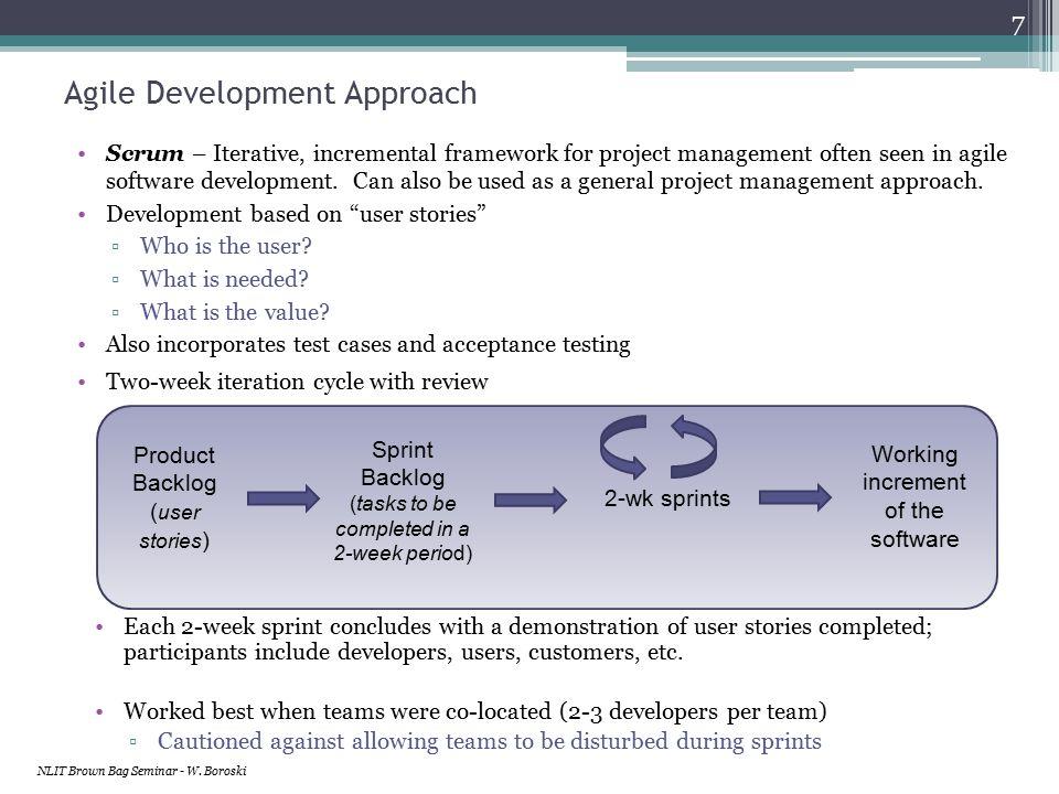 Computing Project Lifecycle NLIT Brown Bag Seminar - W. Boroski 18