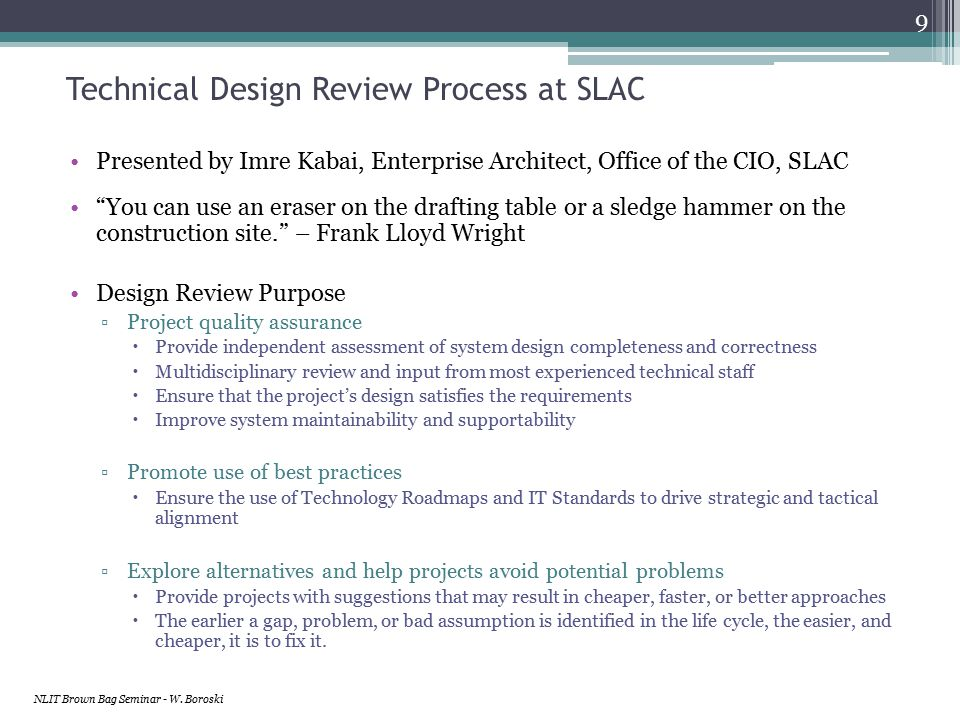 Standardized Project SharePoint Site Templates with Readily-Available Standardized Document Templates - example example NLIT Brown Bag Seminar - W.