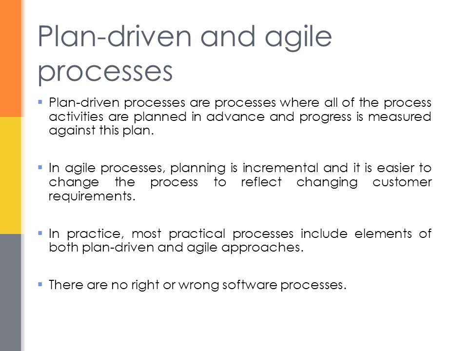 Software process models  The waterfall model  Plan-driven model.