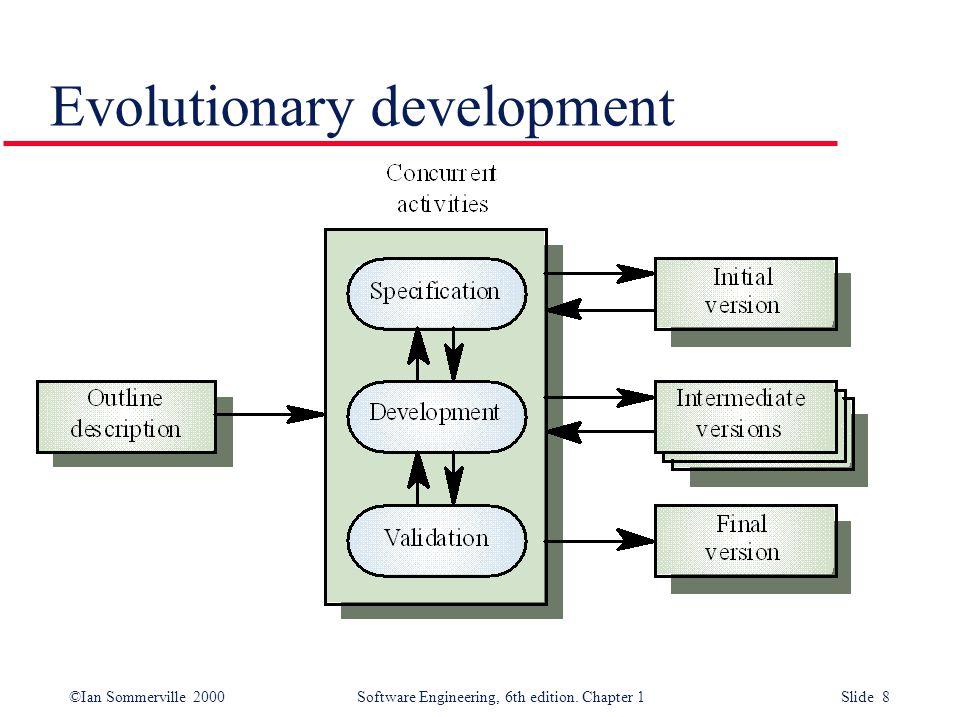 ©Ian Sommerville 2000 Software Engineering, 6th edition. Chapter 1 Slide 8 Evolutionary development