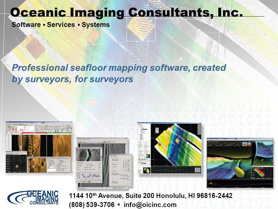 Uniformity of sidescan imagery is dependent on uniformity of illumination.