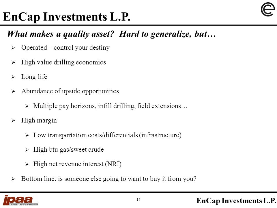 What makes a quality asset.