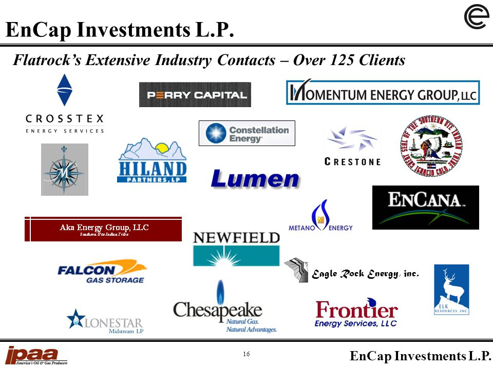 EnCap Investments L.P. 16 EnCap Investments L.P.