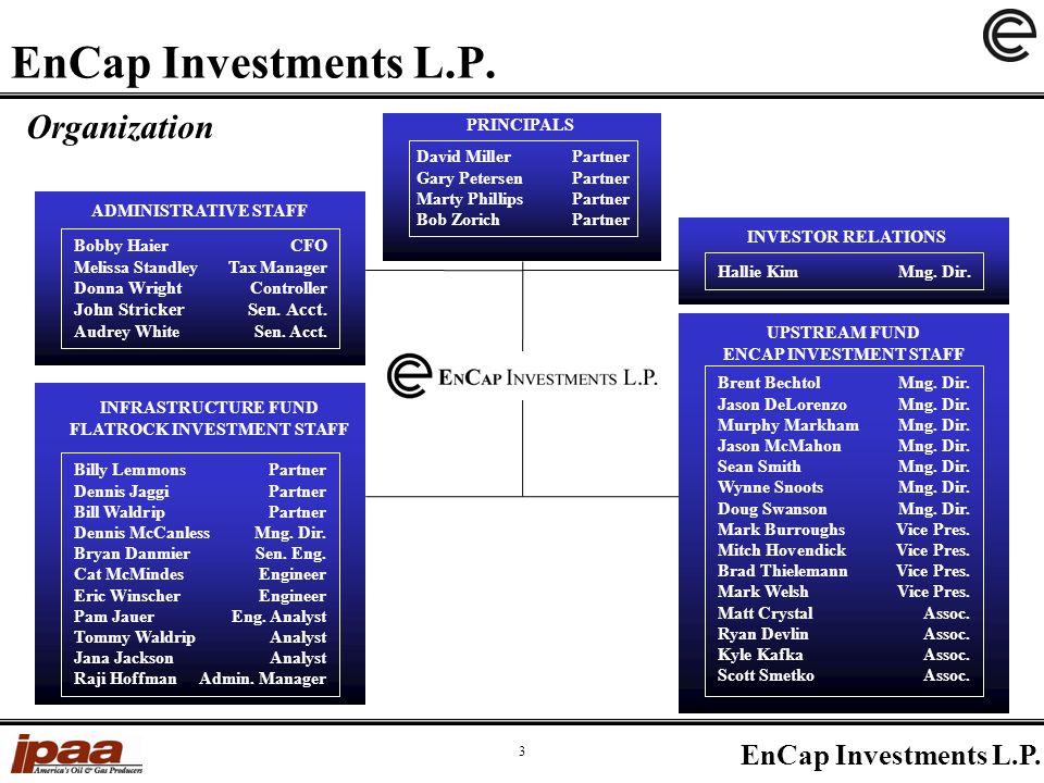 EnCap Investments L.P. 3 Organization Brent Bechtol Mng.