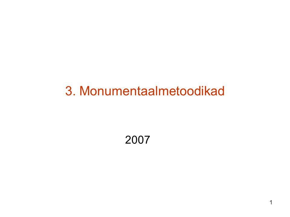 1 3. Monumentaalmetoodikad 2007