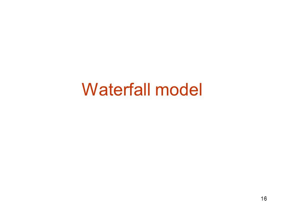 16 Waterfall model