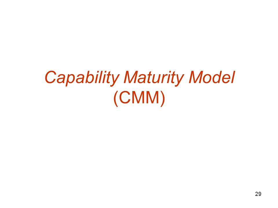 29 Capability Maturity Model (CMM)