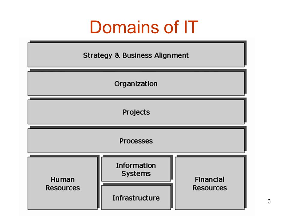 3 Domains of IT
