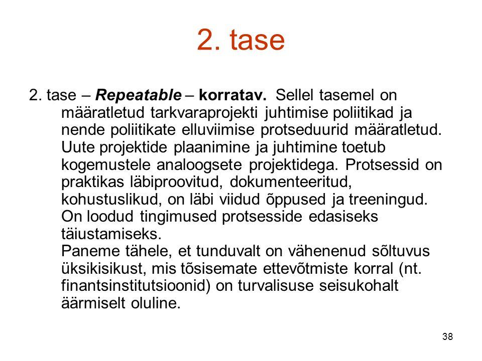 38 2. tase 2. tase – Repeatable – korratav.