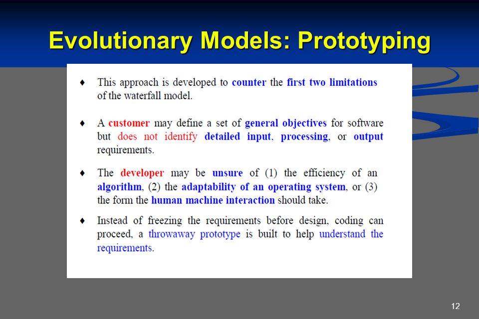 Evolutionary Models: Prototyping 12