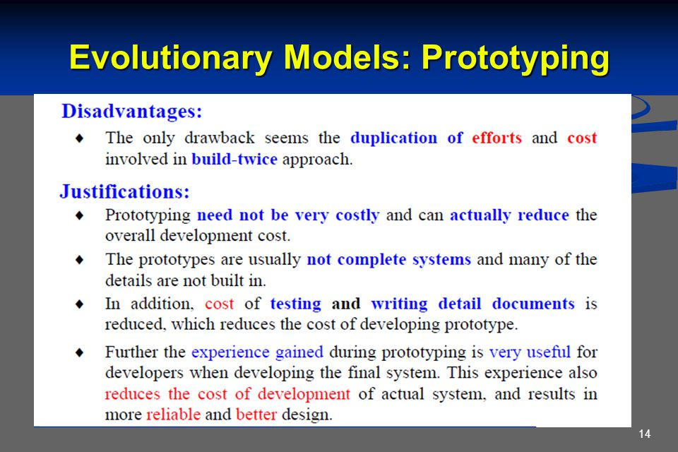 Evolutionary Models: Prototyping 14