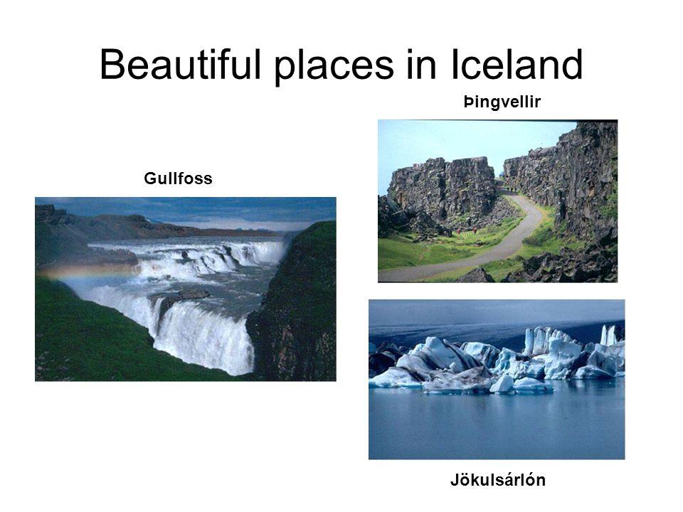 Beautiful places in Iceland Gullfoss Þingvellir Jökulsárlón