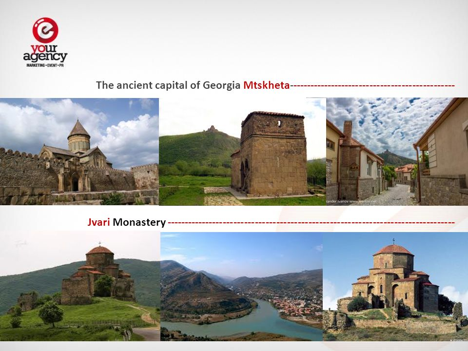 The ancient capital of Georgia Mtskheta----------------------------------------------- Jvari Monastery -----------------------------------------------