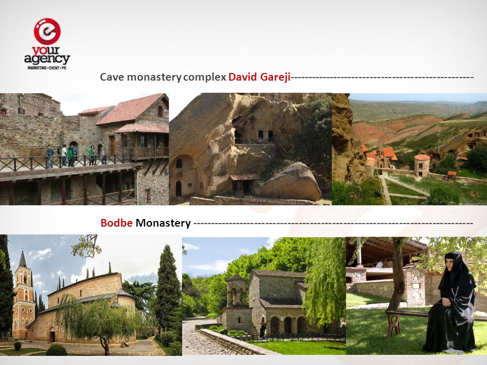 Cave monastery complex David Gareji-------------------------------------------------- Bodbe Monastery ----------------------------------------------------------------------------