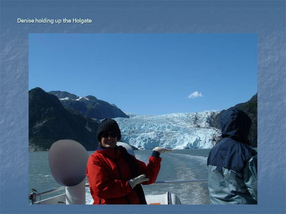 Denise holding up the Holgate
