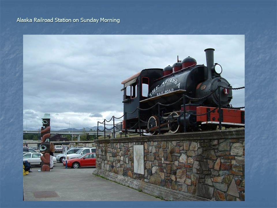 Alaska Railroad Station on Sunday Morning