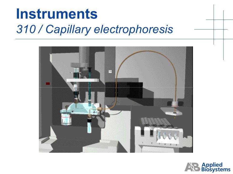 Instruments 310 / Capillary electrophoresis