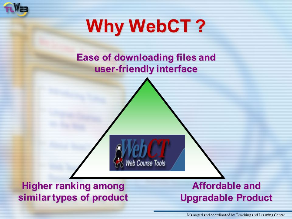 What is WebCT . WebCT was developed in 1995 by Professor Murray Goldberg of UBC.