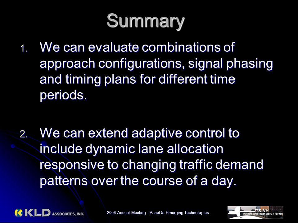 2006 Annual Meeting - Panel 5: Emerging Technologies Summary 1.