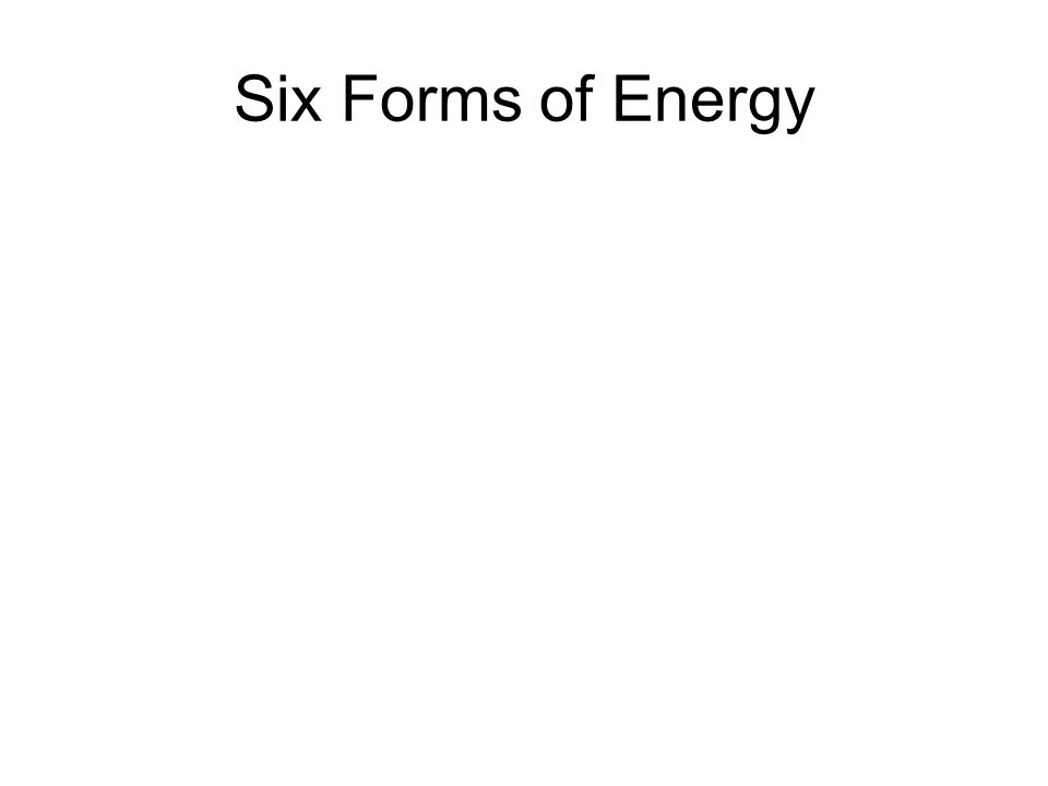 Six Forms of Energy