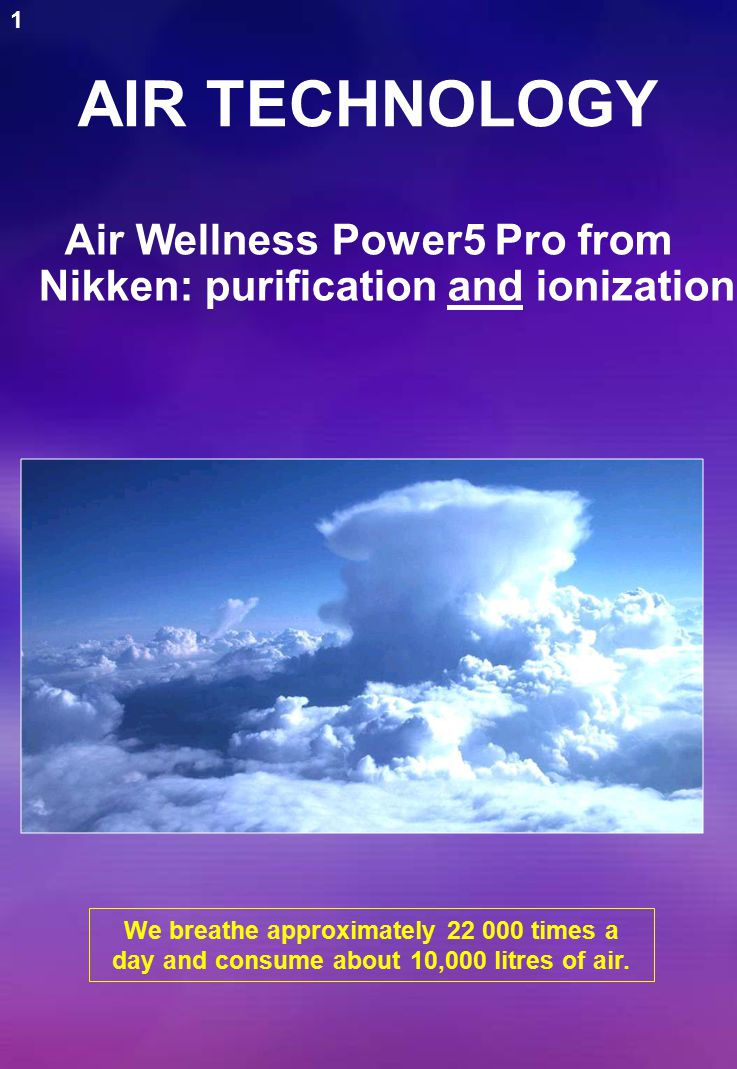 Necessary qualities of healthy air Pure Rich in negative ions Air stimulates cellular metabolism.