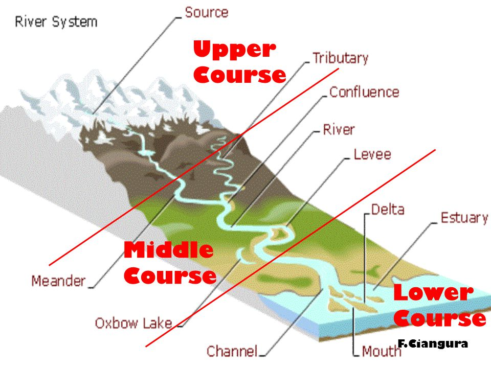 Upper Course Middle Course Lower Course F.Ciangura