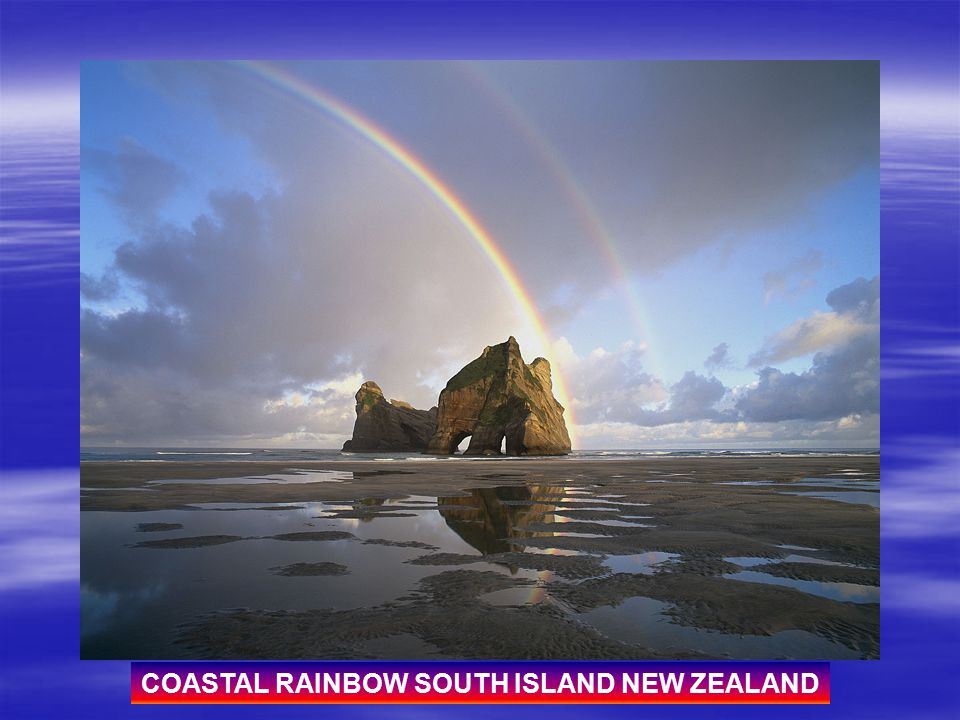 COASTAL RAINBOW SOUTH ISLAND NEW ZEALAND