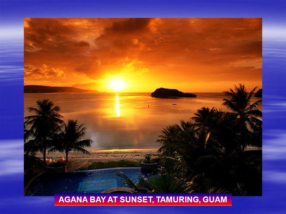 AGANA BAY AT SUNSET, TAMURING, GUAM