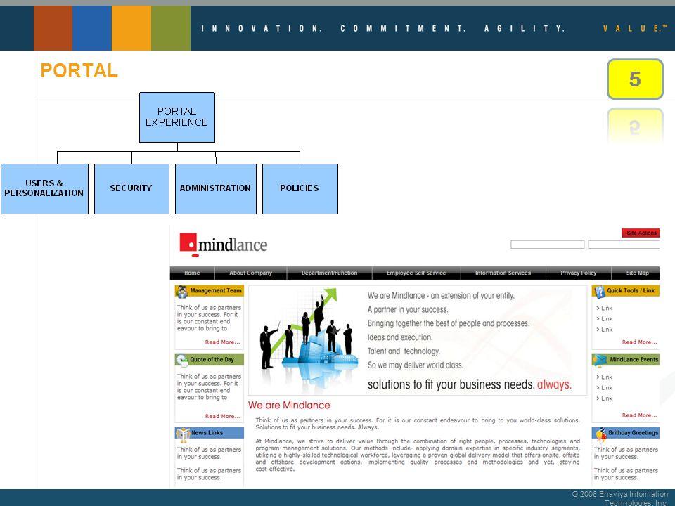 © 2008 Enaviya Information Technologies, Inc. PORTAL