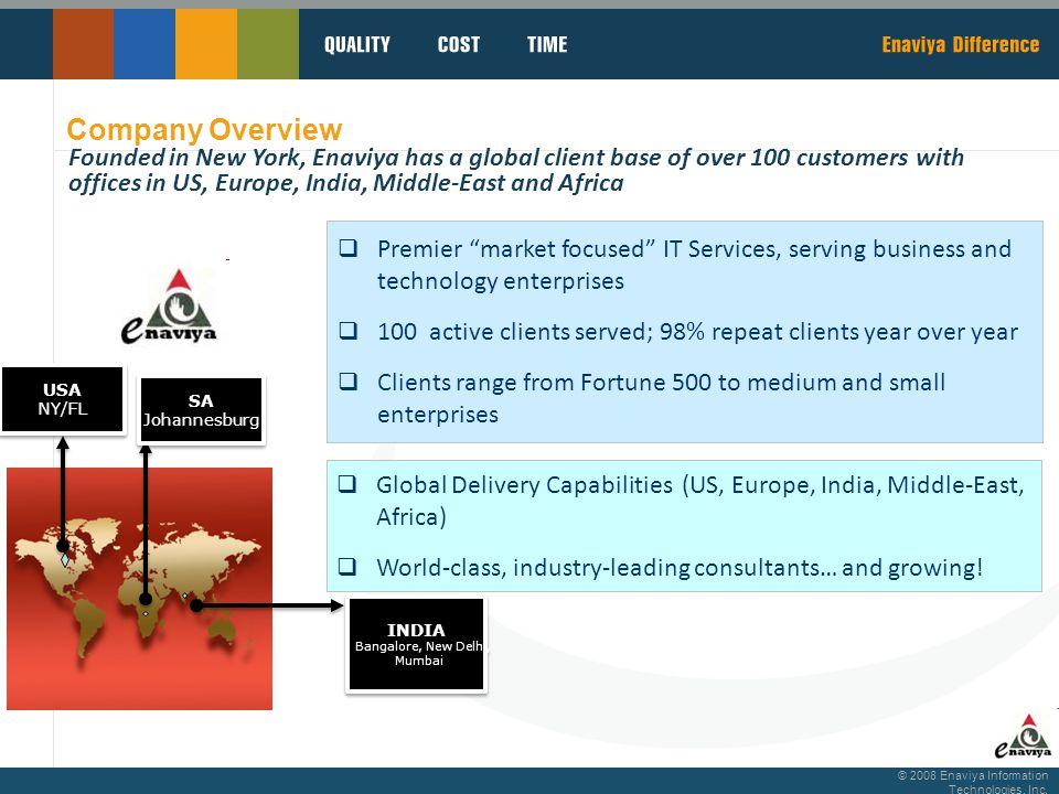 © 2008 Enaviya Information Technologies, Inc. Microsoft Business Intelligence