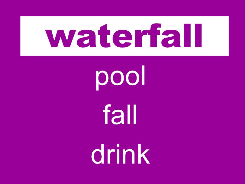 water pool fall drink waterfall