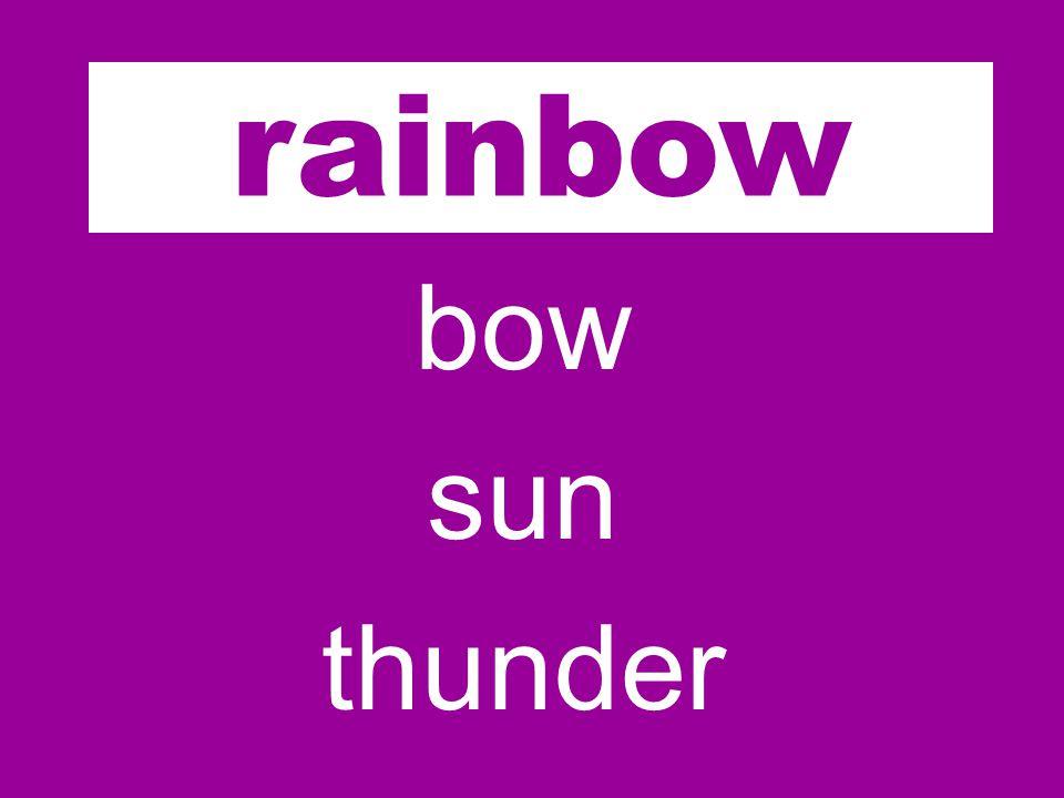 rain bow sun thunder rainbow