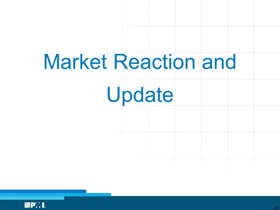 Market Reaction and Update 23