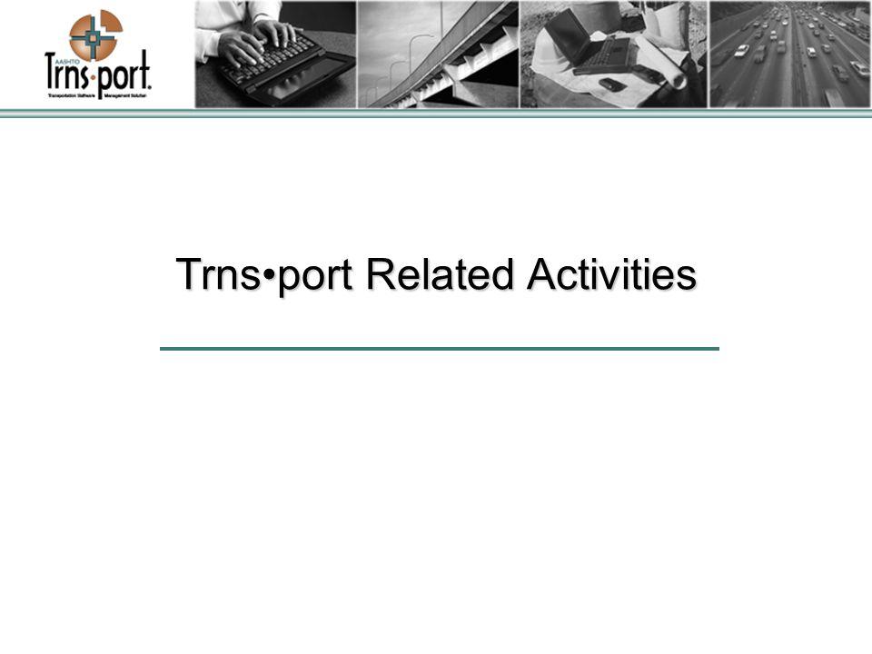 Trnsport Related Activities