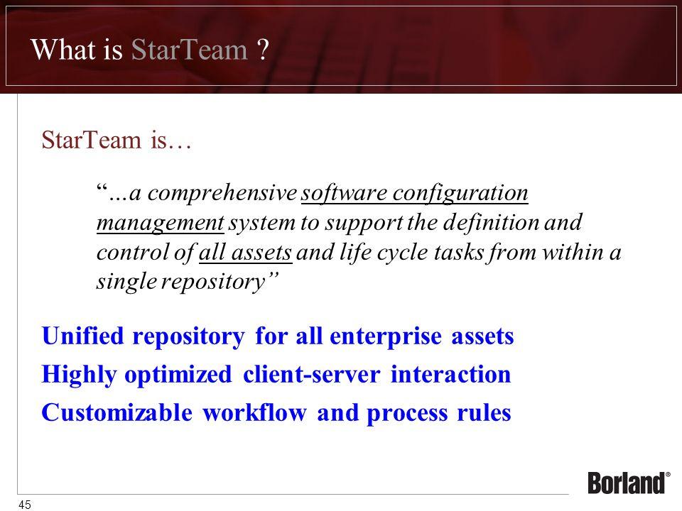 45 What is StarTeam .
