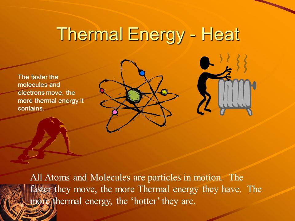 Thermal Energy - Heat All Atoms and Molecules are particles in motion.