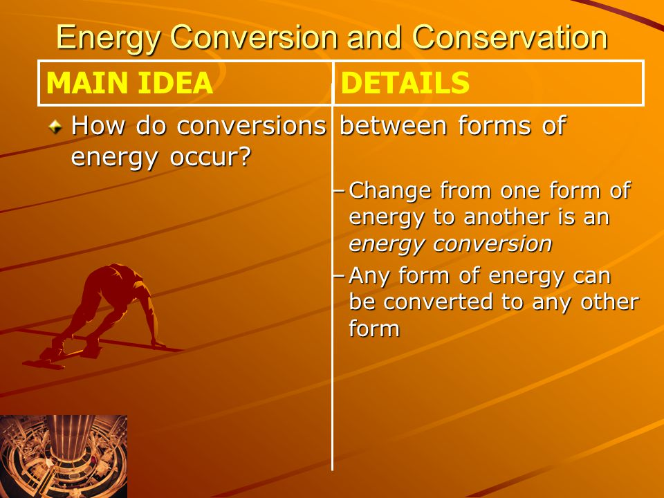 How do conversions between forms of energy occur.