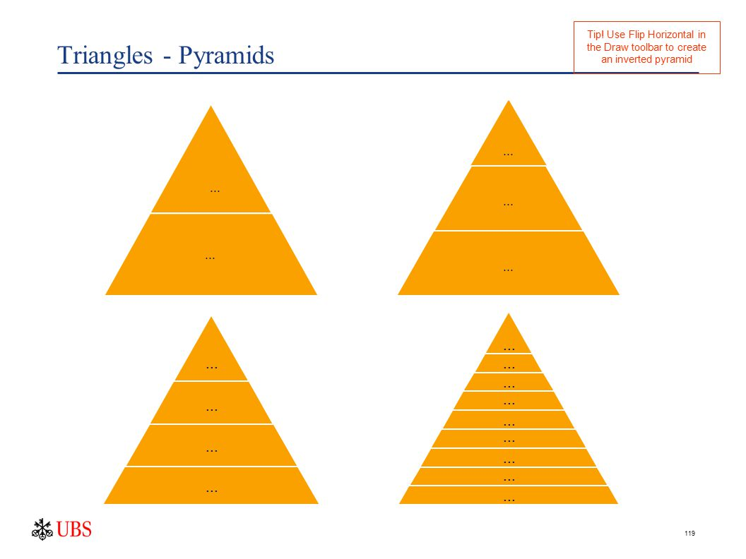 119 Triangles - Pyramids... Tip.