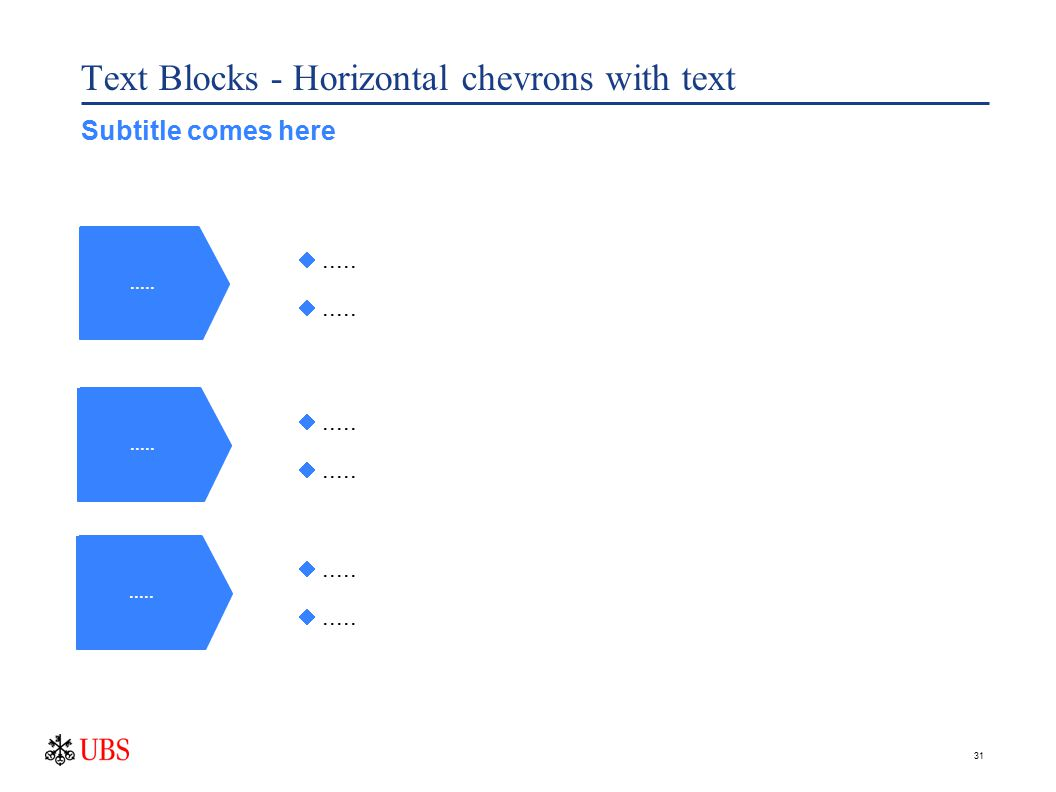 31 Text Blocks - Horizontal chevrons with text..... ..... Subtitle comes here