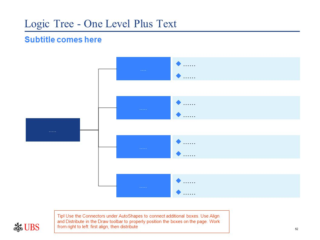 52 Logic Tree - One Level Plus Text.............. ......